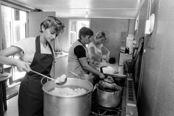 Community kitchen during the Miners Strike of '84